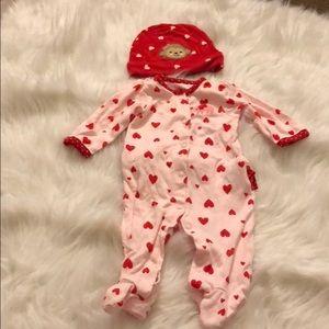 Cute valentines baby girl set